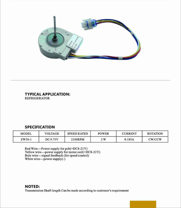 Ge Brushless Electric Motor (ZG58)